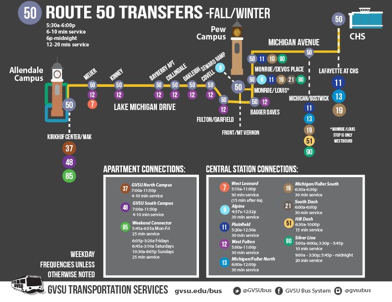 Route 50 Transfers